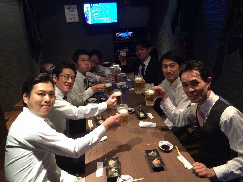 北九州ウェイター向上委員会と宮崎氏の懇親会