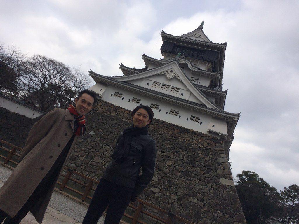 小倉城にて宮崎さんと寺井