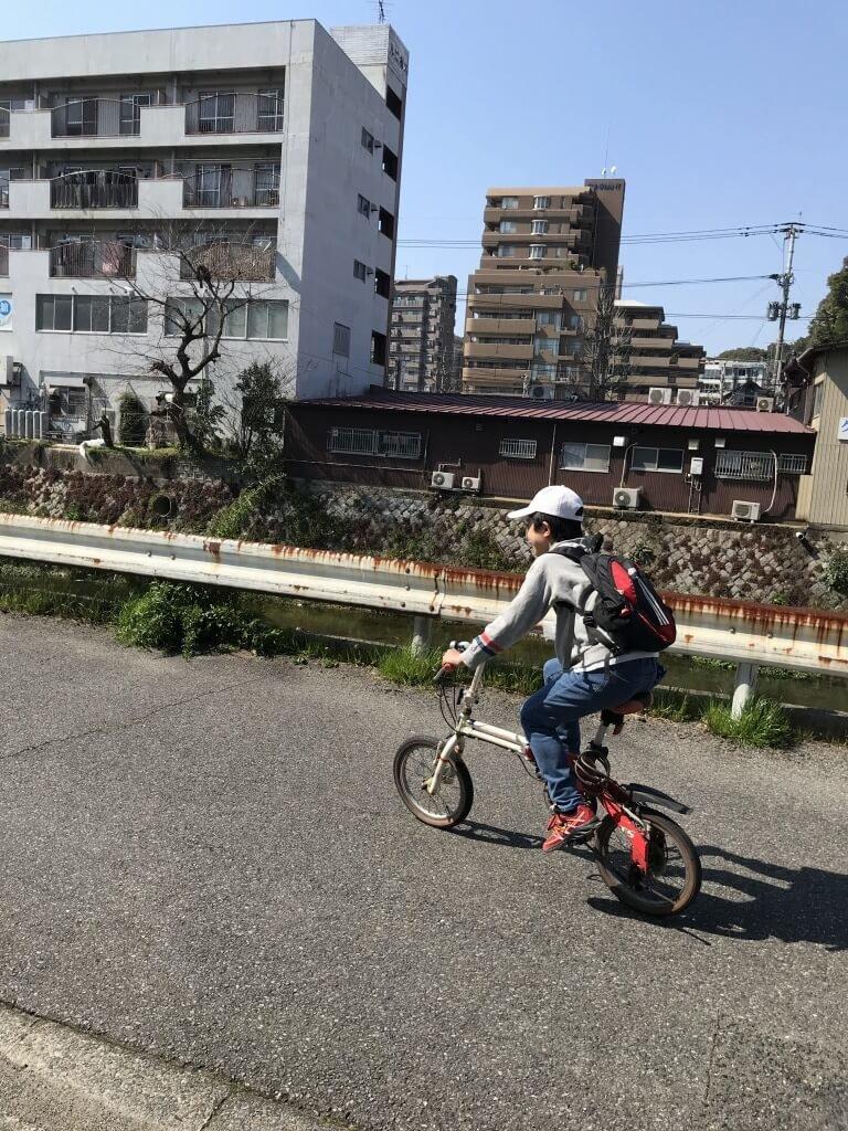 自転車もぴったり
